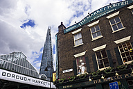 United Kingdom, England, London, Southwark, High-rise building,  Borough Market and Pub right - WE000176