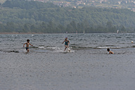 Italy, Lombardy, Province Como, Lake Como, Playing children - PAF000713