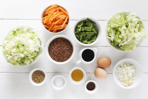 Ingredients for a wok dish with red rice - EVGF000672