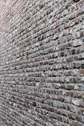 Germany, North Rhine-Westphalia, Grevenbroich, part of brick facade - HLF000624