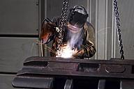 Welder working in a factory - LYF000130