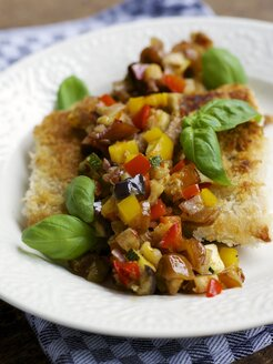 Tempeh fillet with Date Ratatouille Relish - HAWF000370