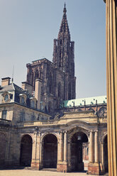 France, Strasbourg, Palais Rohan and Strasbourg Cathedral - MEMF000257