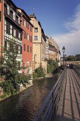 France, Strasbourg, bridge at River Ill in district Petite France - MEMF000260