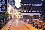 France, Strasbourg, Pont du Faisan over River Ill - MEMF000263