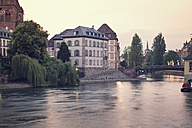 France, Strasbourg, view over River Ill with bridge - MEMF000270