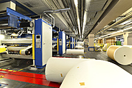 Presses with rolls of paper in a printing shop - SCH000365