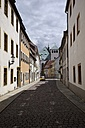 Germany, Saxony, Freiberg, Old town, Alley with houses - EL001159