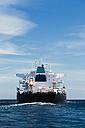 Spain, Andalusia, Tarifa, Strait of Gibraltar, Oil tanker - KBF000060
