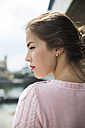 Profile of young woman with red lips - UUF001349