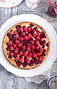 Cheesecake with fresh raspberries and raspberry syrup - ODF000785