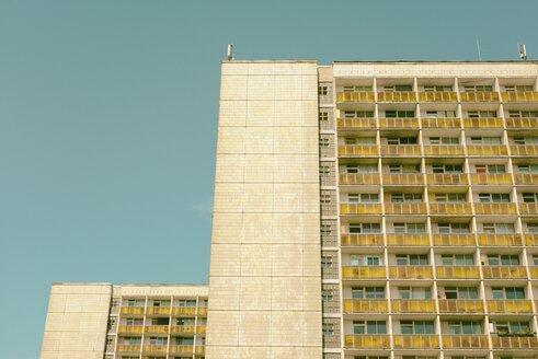 Germany, Saxony, Dresden, Plattenbau, Prefabricated buildings - ELF001169