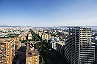Spain, Barcelona, view on neighborhood Diagonal Mar i el Front Maritim del Poblenou - THAF000511