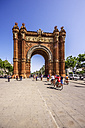 Spain, Barcelona, Arc de Triomf in district Sant Pere - THAF000555