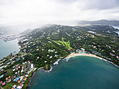 Caribbean, St. Lucia, aerial photo of Castries - AMF002521