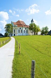 Germany, Bavaria, Wies, view to Wieskirche - MHF000323