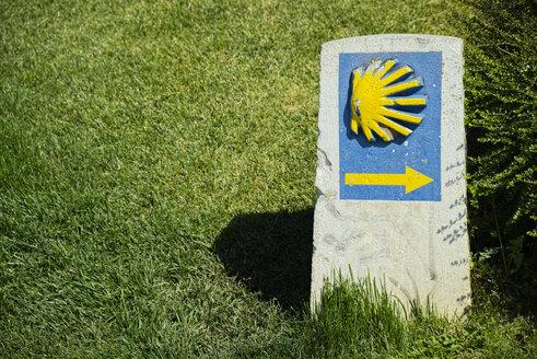 Spain, The Way of St James, Ponferrada, Trail sign - LA001022