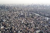 Japan, Tokyo, view towards Asakusa and Sumida river - FLF000448