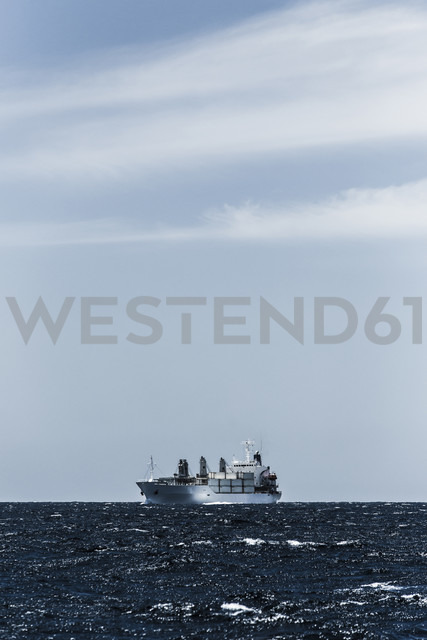 Spain, Andalusia, Tarifa, Strait of Gibraltar, Cargo ship - KB000078