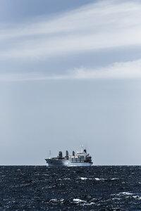 Spain, Andalusia, Tarifa, Strait of Gibraltar, Cargo ship - KB000078