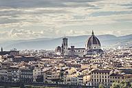 Italy, Tuscany, Florence, Cathedral Santa Maria del Fiore and Palazzo Vecchio - SBDF001140