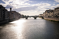 Italy, Tuscany, Florence, River Arno, view from Ponte Vecchio - SBDF001095