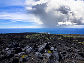 Spain, Canary Islands, La Palma, Atlantic Ocean, Thunderclouds near Faro de Fuencaliente - AMF002584