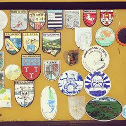 Emblems at a caravan - GSF000886