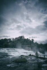 Switzerland, Canton of Schaffhausen, Schaffhausen, Rhine falls with Laufen Castle - ELF001208