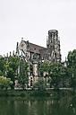 Germany, Baden-Wuerttemberg, Stuttgart, St Johannis Church at Lake Feuersee - ELF001212