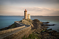 France, Brittany, Phare du Petit Minou in the evening - MKFF000039