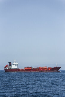 Spain, Andalusia, Tarifa, Strait of Gibraltar, Chemical tanker - KB000081