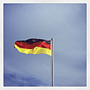 German flag blowing in the wind - GWF003005