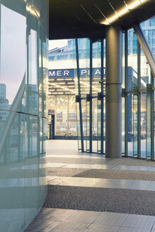 Germany, Berlin, headquarter of Deutsche Bahn at Potsdam Square, partial view - MEM000374
