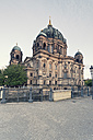 Germany, Berlin, view to Berlin Cathedral at morning light - MEMF000345