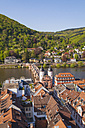 Germany, Baden-Wuerttemberg, Heidelberg, Old town, Old bridge with Bridge gate - WDF002523