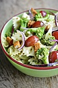 Broccoli Pasta Salad with grapes and spicy Tofu pieces - HAWF000411
