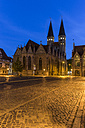 Germany, Lower Saxony, Braunschweig, Old town market square, Parish church St. Martini in the evening - PVCF000055