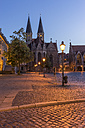 Germany, Lower Saxony, Braunschweig, Old town market square, Parish church St. Martini in the evening - PVCF000058