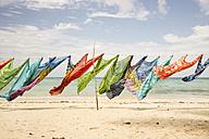 Caribbean, Antilles, Lesser Antilles, Trinidad and Tobago, Tobago, Pigeon Point, Batik scarfs - SK001571