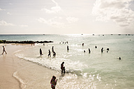 Caribbean, Antilles, Lesser Antilles, Barbados, Beach and tourists - SK001578