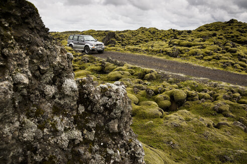 Iceland, Skaftareldahraun, Lava field, off-road vehicle - FC000286