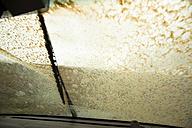 Iceland, windscreen wiper on moving on dirty windscreen - FCF000332