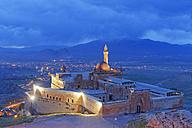 Turkey, Eastern Anatolia, Anatolia, Agri province, Dogubeyazit, Ishak Pasha Palace in the evening - SIEF005737