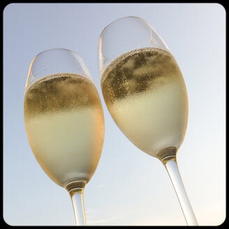 Two glasses of champagne outdoors - SHIF000008