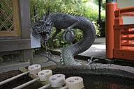 Japan, Kurama, Dragon at spiritual Chozuya place - FL000474