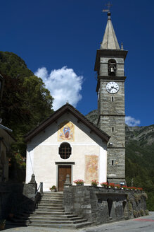 Switzerland, Ticino, Valle Onsernone, Village Church in Russo - WEF000193