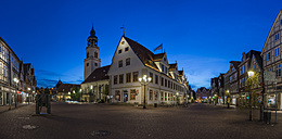 Germany, Lower Saxony, Celle, St Mary's Church and Old Townhall, Blue hour - PVCF000072