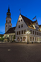 Germany, Lower Saxony, Celle, St Mary's Church and Old Townhall, Blue hour - PVCF000068