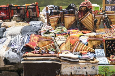 South America, Peru, Some peruvian handcrafted souvenirs, Panpipes - KRP000683